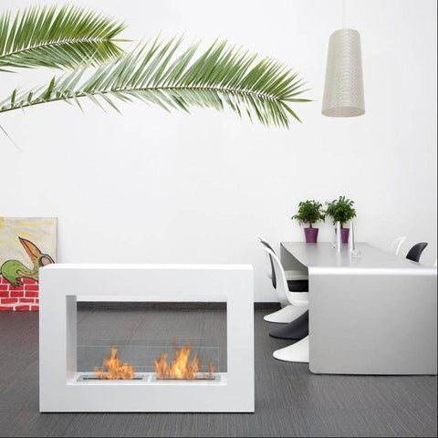 Image of Bio-Blaze Qube Large Free Standing Ventless Fireplace-Modern Ethanol Fireplaces