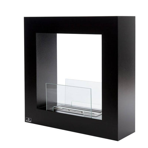 Image of Bio-Blaze Qube Small Free Standing Ventless Fireplace-Modern Ethanol Fireplaces