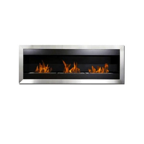 "Bio-Blaze Square XL II BB-SQXL2 59"" Stainless Steel Wall Mounted Ethanol Fireplace-Modern Ethanol Fireplaces"