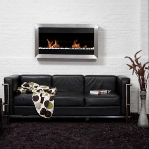 Bio-Blaze Square Large II Ventless Wall Fireplace (BB-SQL2)