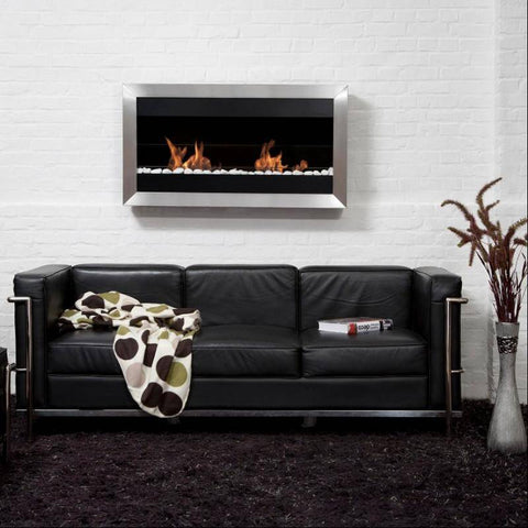 Image of Bio-Blaze Square Large II Ventless Wall Fireplace (BB-SQL2)-Modern Ethanol Fireplaces