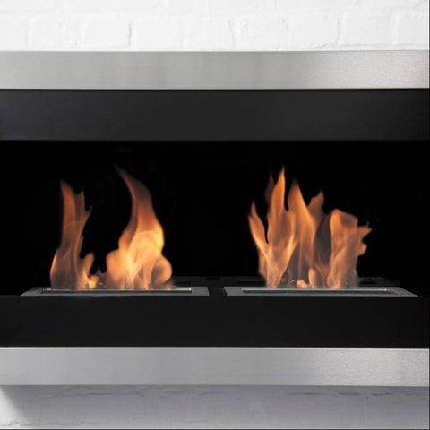 Bio-Blaze Square Small II Ventless Wall Fireplace (BB-SQS2)-Modern Ethanol Fireplaces