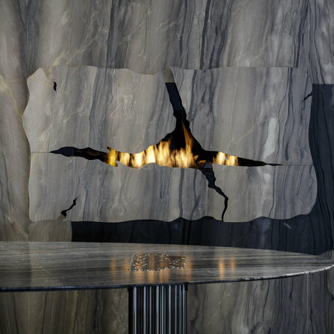 "Image of Glammfire Apollo IV EVOPlus Automatic Wall Mounted Ethanol Fireplace 64""-Modern Ethanol Fireplaces"