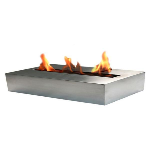 "Bio-Blaze BB-B2 11"" Stainless Steel Ventless Ethanol Fireplace Burner-Modern Ethanol Fireplaces"