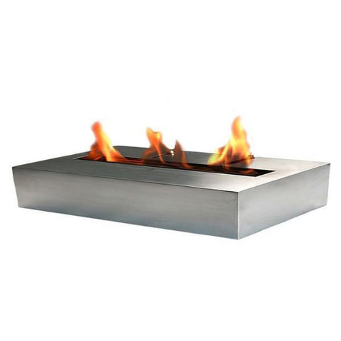 "Image of Bio-Blaze BB-B2 11"" Stainless Steel Ventless Ethanol Fireplace Burner-Modern Ethanol Fireplaces"