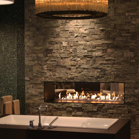 Image of Decoflame Montreal E-Ribbon Recessed Automatic Ethanol Fireplace-Modern Ethanol Fireplaces