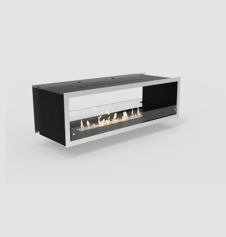 "Decoflame Orlando 31"" Black Manual Two-Sided Ethanol Fireplace Inserts-Modern Ethanol Fireplaces"