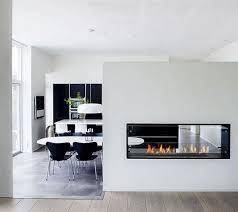 Decoflame Montreal 2 Sided Recessed Manual Ethanol Fireplace-Modern Ethanol Fireplaces