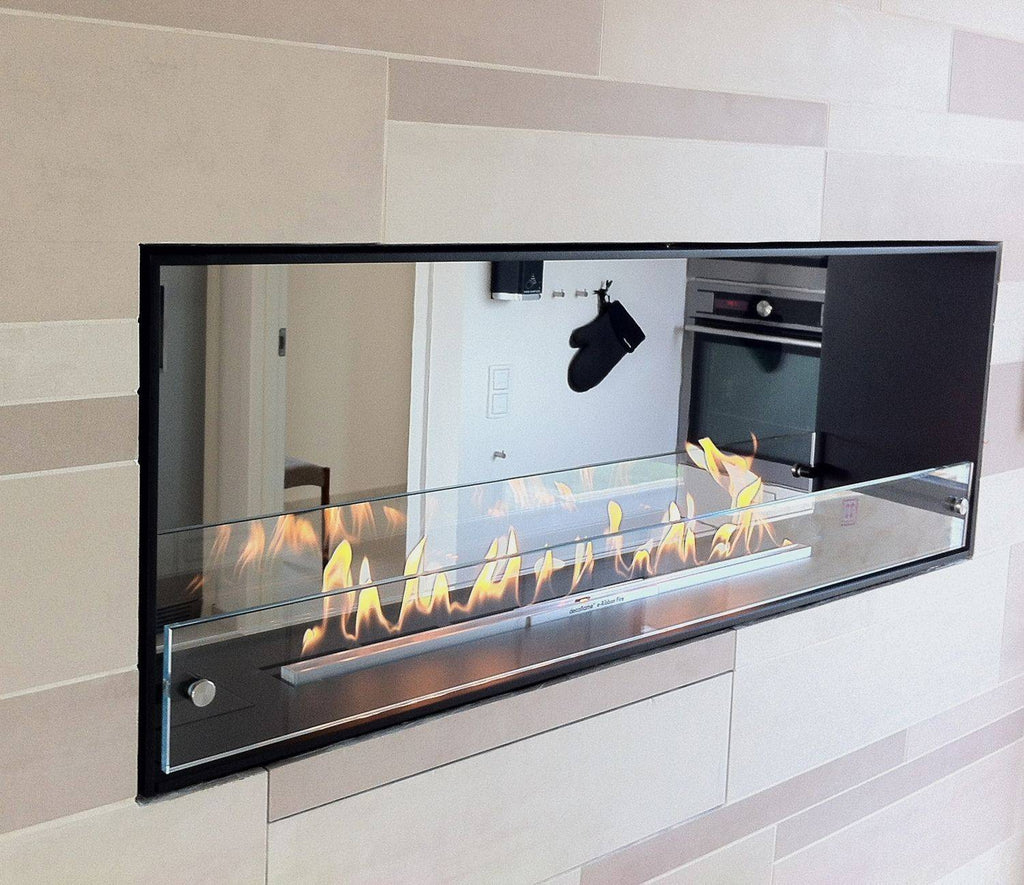 Decoflame Montreal E-Ribbon 2 Sided Recessed Automatic Ethanol Fireplace-Modern Ethanol Fireplaces