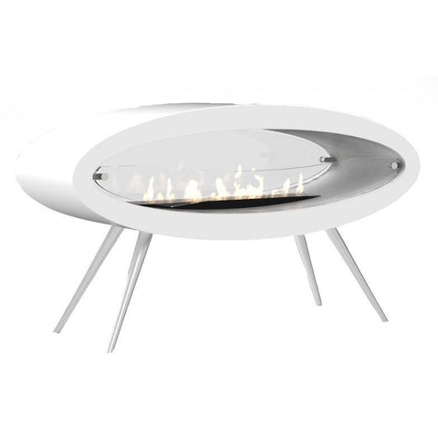 Image of Decoflame Ellipse Free-Standing Fireplace-Modern Ethanol Fireplaces
