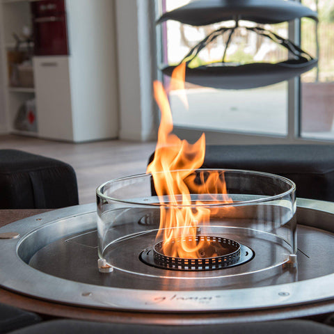Image of Glammfire Fire Round EVOPlus Automatic Ethanol Fireplace Insert-Modern Ethanol Fireplaces