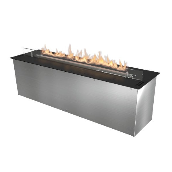 "Planika FLA 39"" Black Automatic Ethanol Fireplace Insert w/ Remote Control-Modern Ethanol Fireplaces"