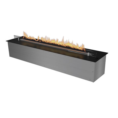 "Image of Planika FLA 47"" Black Automatic Ethanol Fireplace Insert w/ Remote Control-Modern Ethanol Fireplaces"