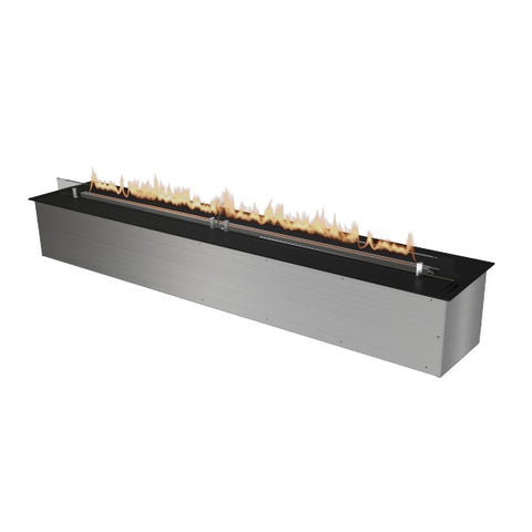 "Image of Planika FLA 59"" Black Automatic Ethanol Fireplace Insert w/ Remote Control-Modern Ethanol Fireplaces"