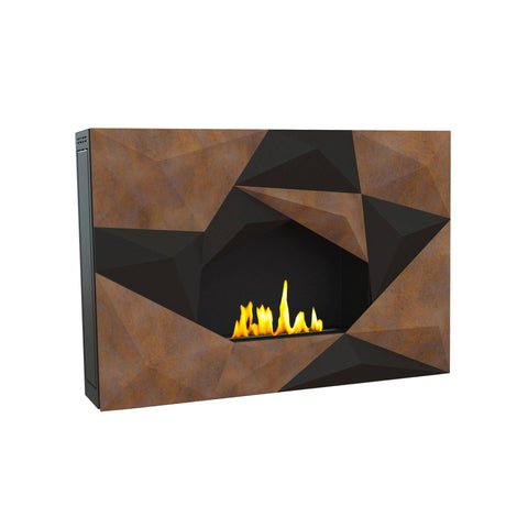 "Image of GlammFire Crystal EVOPlus Automatic Wall Mounted Ethanol Fireplace 43""-Modern Ethanol Fireplaces"
