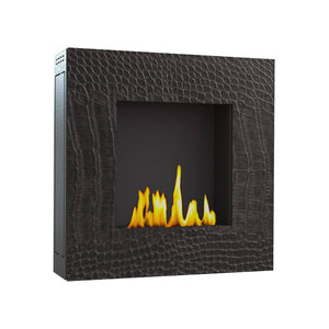 "GlammFire Lotus EVOPlus Automatic Wall Mounted Ethanol Fireplace 32""-Modern Ethanol Fireplaces"