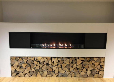 Decoflame Montreal Panorama E-Ribbon Automatic Recessed Ethanol Fireplace-Modern Ethanol Fireplaces