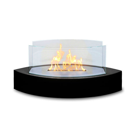 "Image of Anywhere Fireplace Lexington 90215 20"" Black Tabletop Ethanol Fireplace-Modern Ethanol Fireplaces"
