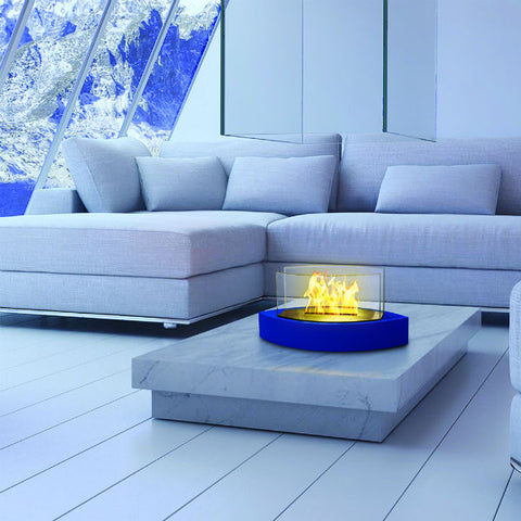 "Anywhere Fireplace Lexington 90216 20"" Blue Tabletop Ethanol Fireplace-Modern Ethanol Fireplaces"