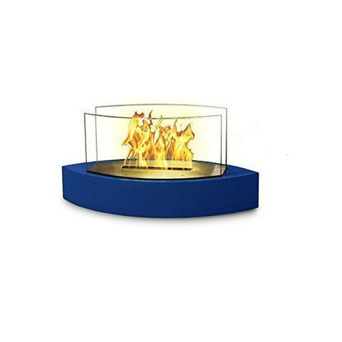 "Image of Anywhere Fireplace Lexington 90216 20"" Blue Tabletop Ethanol Fireplace-Modern Ethanol Fireplaces"