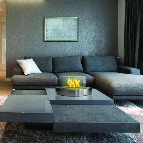 "Anywhere Fireplace Lexington 90217 20"" Stainless Tabletop Ethanol Fireplace-Modern Ethanol Fireplaces"