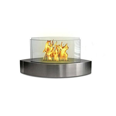 "Image of Anywhere Fireplace Lexington 90217 20"" Stainless Tabletop Ethanol Fireplace-Modern Ethanol Fireplaces"