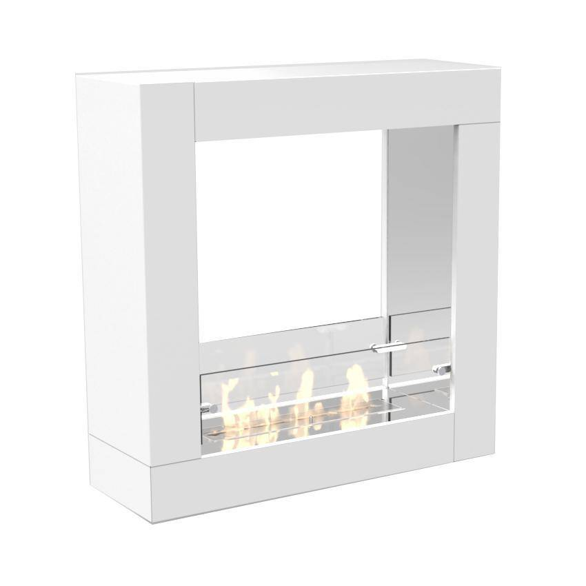 Decoflame Sydney Free-Standing Fireplace (White)-Modern Ethanol Fireplaces