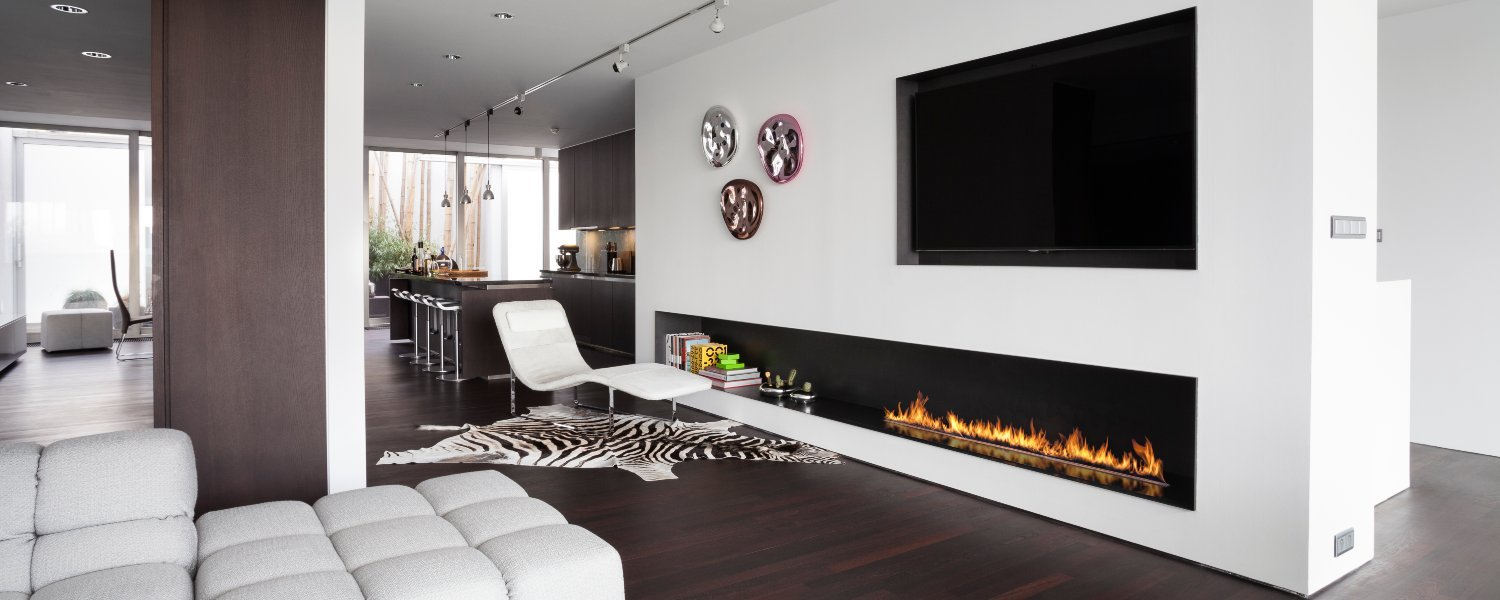 Decoflame Ellipse Flueless Fire: Modern Ethanol Fireplaces