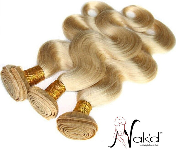Nak'd - Body Wave Texture - Russian Blonde 613
