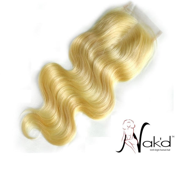Nak'd Lace Closures - Russian Blonde 613