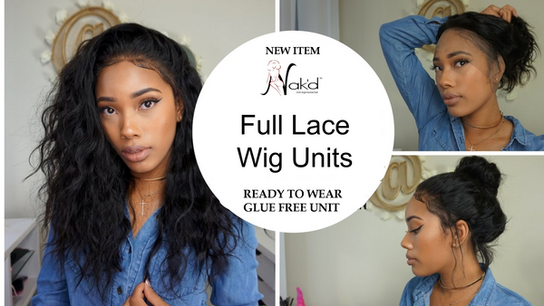 New *** Nak'd - Natural Color, Pre-Plucked Full Lace Wig Units