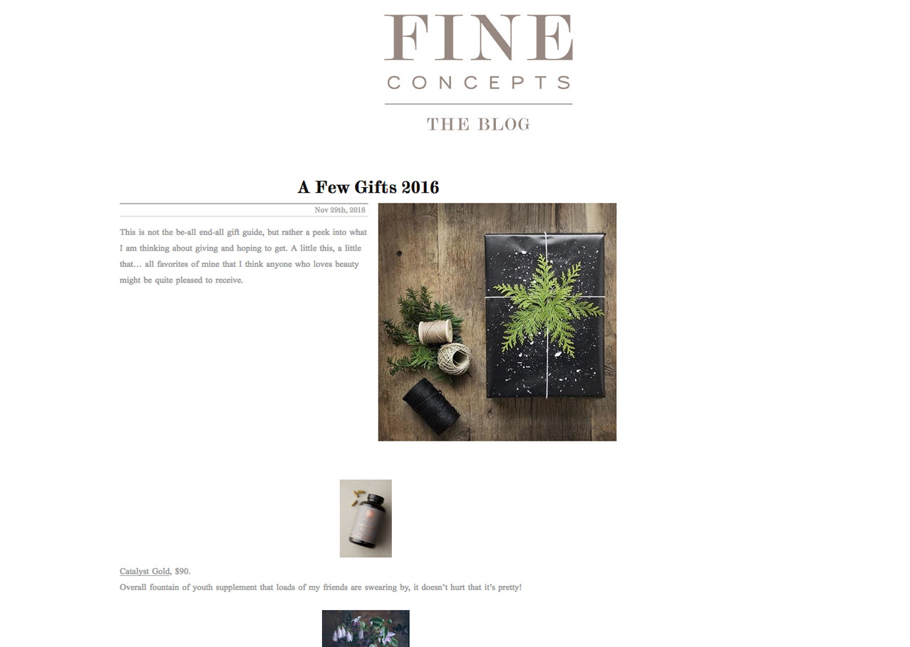 Fine Concepts: A Few Gifts 2016