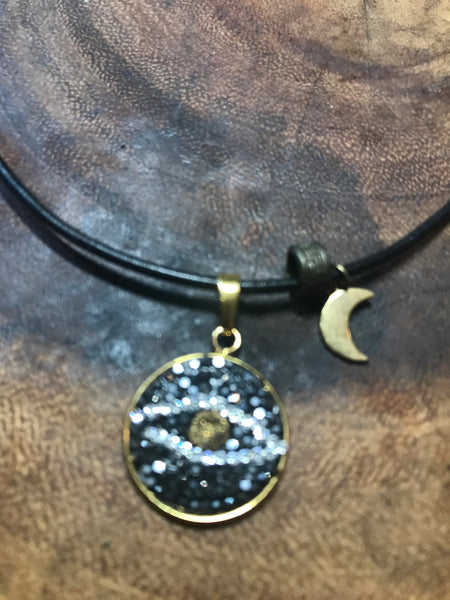 Lucky Eye and gold plated moon