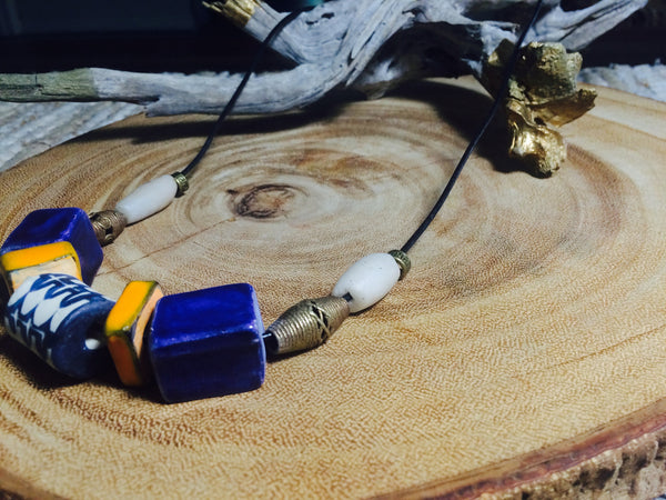 Indigo and Marigold Necklace