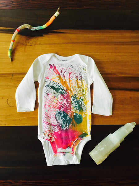 6 month Abstract long sleeve onesie