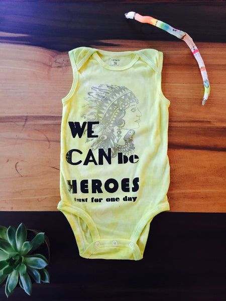18th month Heroes Lady onesie