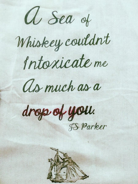 A Sea of Whiskey Tea Towel