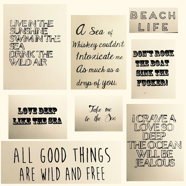 Beachy words & Quotes on Everyday Tote