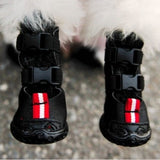 Double buckle anti-slip dog boots (black & pink) - Dog Shoes And Dog Booties - 3
