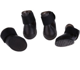 Rubber waterproof dog boots (only black color) - Dog Shoes And Dog Booties