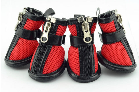 Comfortable Outdoor Walking dog boots (Red,Blue,Pink) - Dog Shoes And Dog Booties - 1