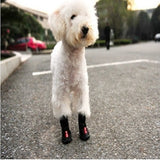 Double buckle anti-slip dog boots (black & pink) - Dog Shoes And Dog Booties - 2