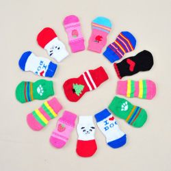24pc Cute Non-slip Dog Socks - Dog Shoes And Dog Booties - 1