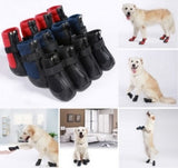 Warm non-slip dog boots for larger breeds (red,blue,black) - Dog Shoes And Dog Booties - 2