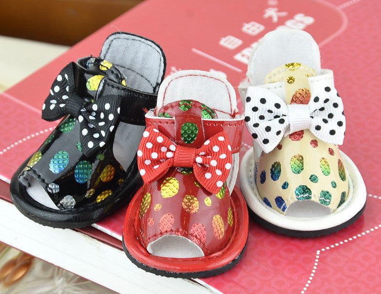 PU pet shoes,leather dog shoes sandals, non slip small dogs - Dog Shoes And Dog Booties