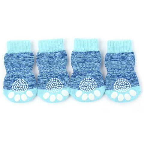 4pcs Pet Small Dog Warm Soft Anti-slip Socks - Dog Shoes And Dog Booties - 4