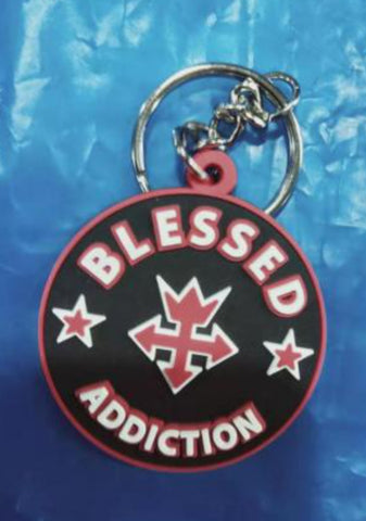 Blessed Addiction Keychain