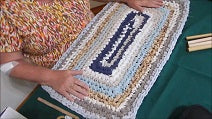 Rectangle Rag Rug with Easy Great Corners (Recycled Pillowcase)