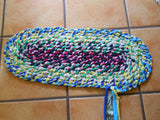 Braid-In Oval Rag Rug
