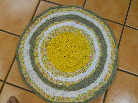 Learn the Formula for Making a Circle (Round) Rag Rug Using the Backbar